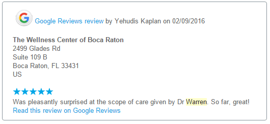 review on Google +